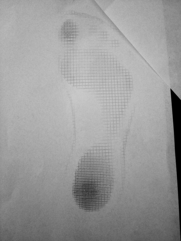empreinte pied creux enfant